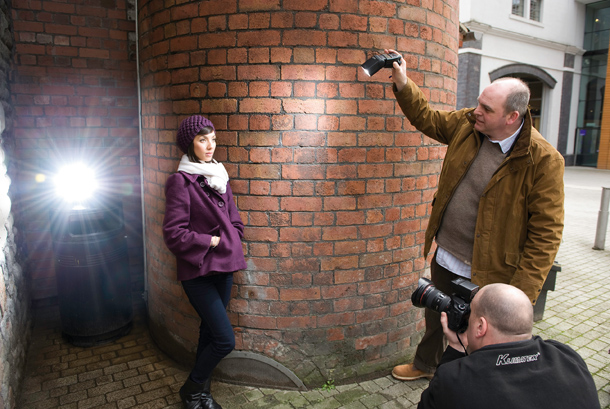 Damien Lovegrove flash photography demonstration with reader Richard Twiner. Apprentice feature